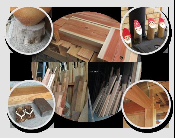 ナカタ製材部門の端材などを利用したうれしい提案